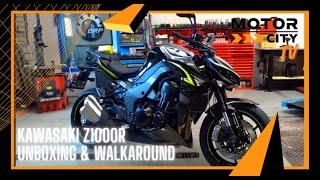 KAWASAKI Z1000R   UNBOXING & WALKAROUND  MOTOR City Amsterdam