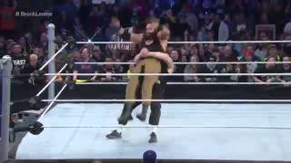 Wwe Brock Lesnar Suplex to Braun Strowan