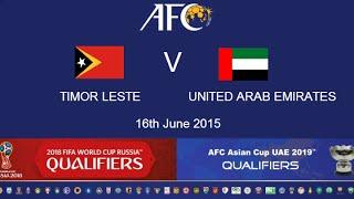 FULL MATCH: Timor Leste v Saudi Arabia: 2018 FIFA WC Russia & AFC Asian Cup UAE 2019 (Qly RD 2)