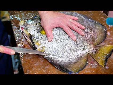 Japanese Street Food BATFISH Fish Cutlet Okinawa Seafood Japan