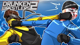 Drunken Wrestlers 2 - SUPER DERPY FIGHTING GAME! (1v1v1)