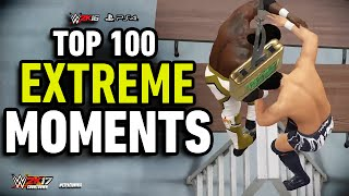WWE 2K16 Top 100 Extreme Moments! | WWE 2K17 Countdown