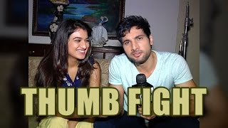 Aham and Monica aka Arjun and Radhika of Manmarziyaan take up thumb fight