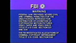 FBI warning intro (1984)