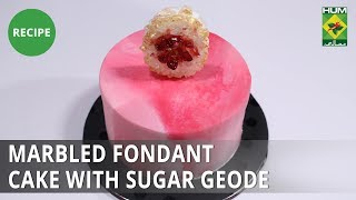 Marbled Fondant Cake with Sugar Geode | Bake At Home | Dessert