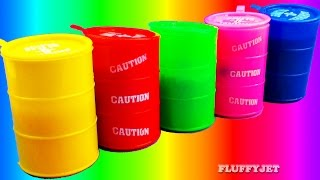 Learn Colors for Kids with Slime Barrel Surprise Toys | Creative Play Inside Out Cookie Monster