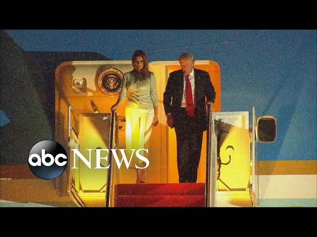 Trump back from foreign trip faces political storms over Russian investigation