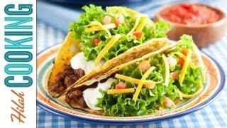 How To Make Tacos!!! Crispy Beef Taco Recipe | Hilah Cooking