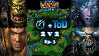 Grubby | Warcraft 3 The Frozen Throne | Orc & Human vs. Night Elf & Undead | 2v2 with ToD