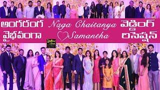 Celebs at Samantha and Naga Chaitanya Wedding Reception | Naga Chaitanya Samantha Rec Highlights