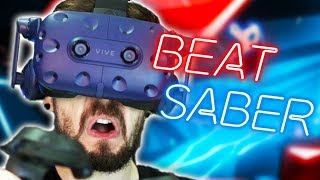 CAN YOU HAVE MORE FUN THAN THIS?! | Beat Saber #1 (HTC Vive Virtual Reality)
