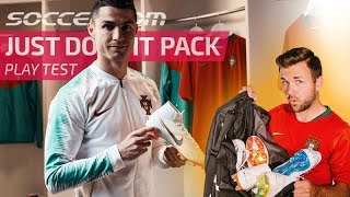 Cristiano Ronaldo Shows Off Just Do It Pack - Nike Just Do It Pack Play Test