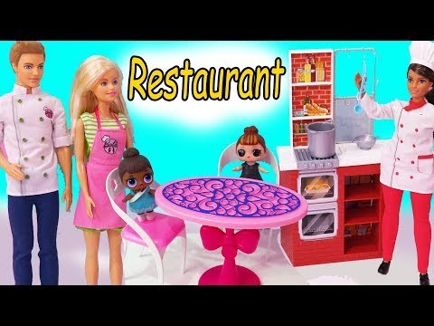 Xxx Mp4 Restaurant Disaster Barbie Works For Chef LOL Surprise Baby Doll Toy Video 3gp Sex