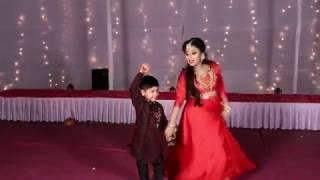 Kids and Mom's dance on