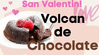 POSTRE DE VOLCAN DE CHOCOLATE ~IDEA DE SAN VALENTIN !!