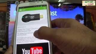 How to Play Youtube Videos Movies on TV with Google Chromecast?