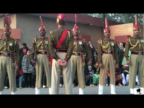 Indian-Pakistani Border Flag Ceremony