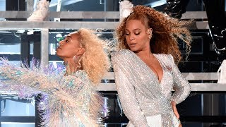 Beyonce FALLS On Stage During Coachella Weekend 2 Performance