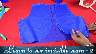 Class 19 - Part 2 How to make a Bolero jacket with invisible seam/ neat and easy method