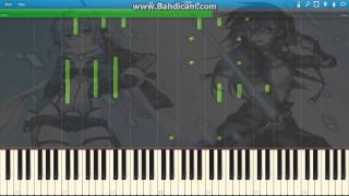 Sword Art Online II ED 3 - Shirushi [LiSA] Piano Tutorial ~Synthesia~  100% speed