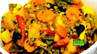 Mix Vegetable Sabji - Niramish - Bangladeshi Labra - Deeba's Recipe