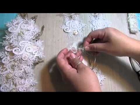 2014 Shabby Chic Christmas handmade ornaments