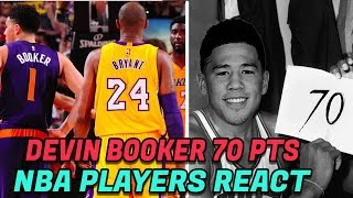 NBA PLAYERS REACT TO DEVIN BOOKER