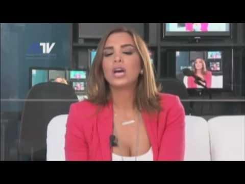 موقف مضحك جدااااااا مع مذيعة لبنانية مباشرة على الهواء