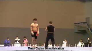 Kru Preang - Muay Chaiya Demonstration in 12th Funakoshi Gichin Cup World Karate-Do Championship