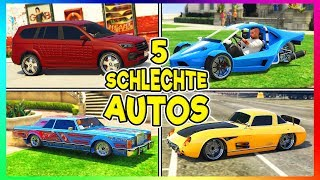 5 KOMPLETT ÜBERTEUERTE SCHLECHTE AUTOS IN GTA 5 ONLINE! | GTA V Bad Cars!
