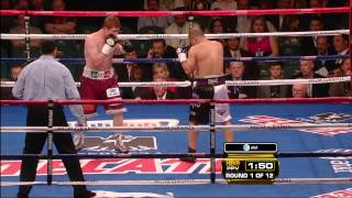 Saul Canelo Alvarez vs. Jose Miguel Cotto: Round 1 [1080p]