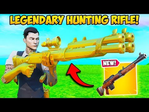 NEW LEGENDARY HUNTING RIFLE IS OP Fortnite Funny Fails and WTF Moments 831