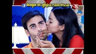 Sanskar gets Kiss from Swara.