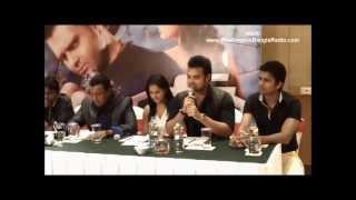 Bangla Movie ROCKY (2013) Part 2: Mahakshay Chakraborty (Mimoh) at press meet in Kolkata (WBRI)