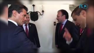 Enrique Peña Nieto Saco Un Arma y La Cara de Susto de Jimmy Morales Presidente de Guatemala