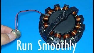 3D printed DC motor run smoothly