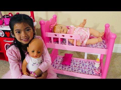Xxx Mp4 Emma Pretend BABYSITTING Baby Doll Toys 3gp Sex