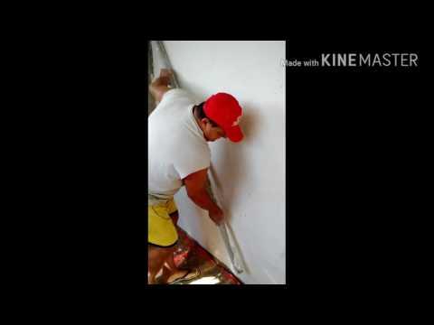 Gesso em parede já embosada ou rebocada Primeiro Video