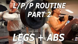 LEGS A & B | Full LEGS/PUSH/PULL Routine (Part 2/4) | Student Aesthetics