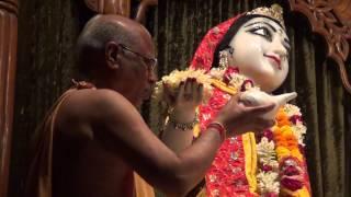 Mangal Arati Pooja by HH Lokanath Swami Maharaja of Sri Sri Radha Madhav Part 1
