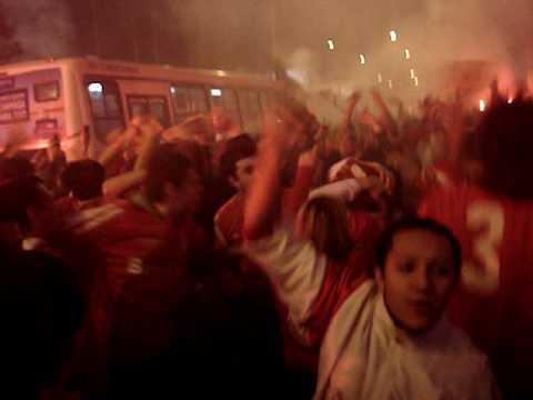 S. C. Internacional Fans Ruas de Fogo Street of Fire Libertadores 2010