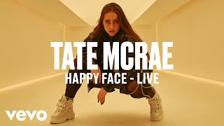 Tate McRae - happy face (Live) | Vevo DSCVR