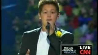 Shaheen Jafargholi sings at Micheal Jackson's funeral