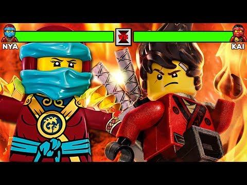Lego Ninjago Movie Kai Vs Nya With Healthbars