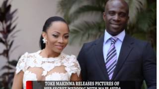 HIP TV NEWS - TOKE MAKINWA RELEASES PICTURES OF DISCREET WEDDING TO MAJE