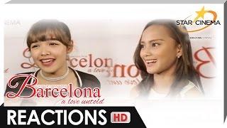 Reactions | Andrea Brillantes, Nash Aguas, Rita Gaviola, Francis Magundayao | 'Barcelona'