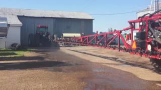 A 120ft Case IH 3330 in Spraying with the MagGrow system