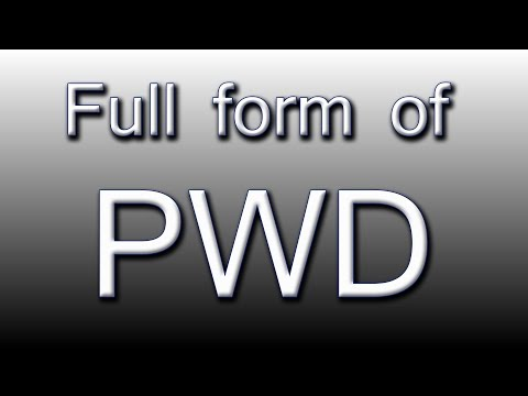 Full form of PWD