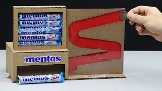 Wow! Amazing Mentos Vending Machine with Coin