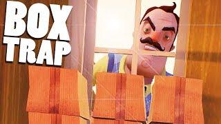 Trapping the Neighbor With Boxes! - Hello Neighbor Beta  - Hello Neighbor Secrets